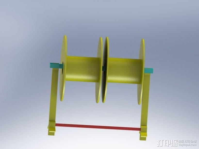 Robo 3D打印机的线轴支撑架 3D模型  图1