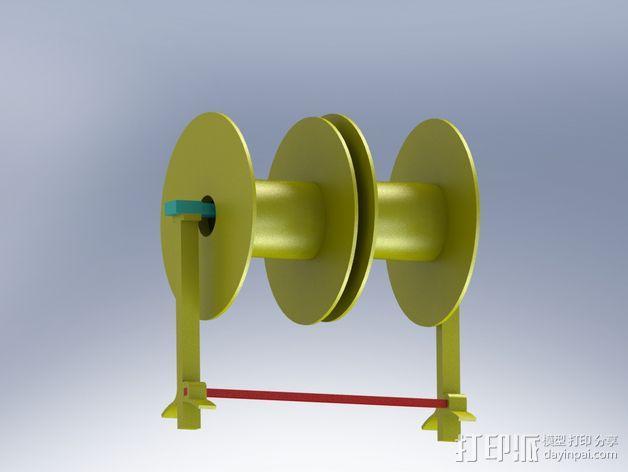 Robo 3D打印机的线轴支撑架 3D模型  图5