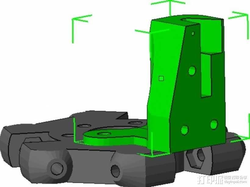 Kossel Mini打印机的取消探针 3D模型  图1