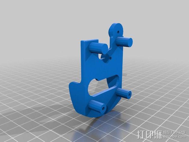 挤出机套件 替换件 3D模型  图1