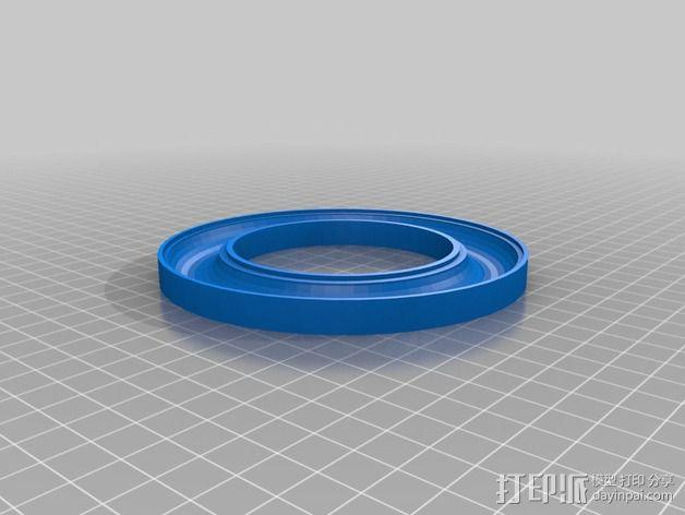 线轴支撑架 3D模型  图3