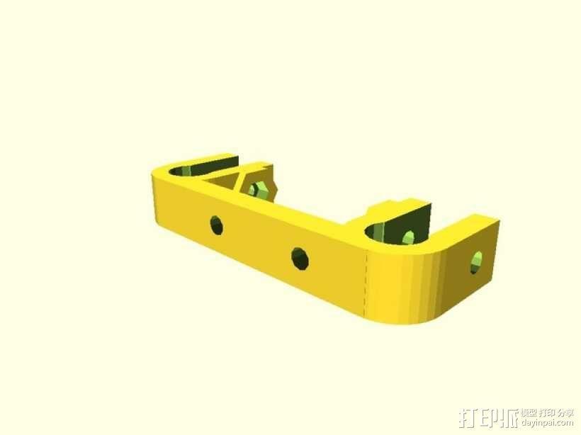 Prusa Mendel i2打印机X轴限位开关支架 3D模型  图2