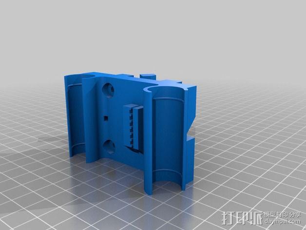 鲍登挤出机 支架 3D模型  图2