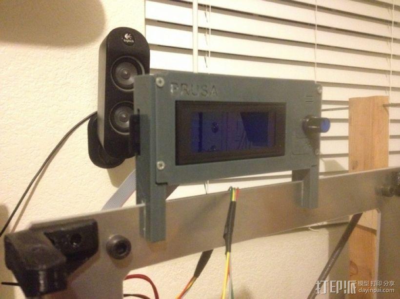 液晶显示屏保护罩和支架 3D模型  图1