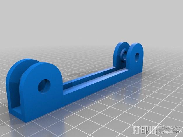 线轴支撑座 3D模型  图2