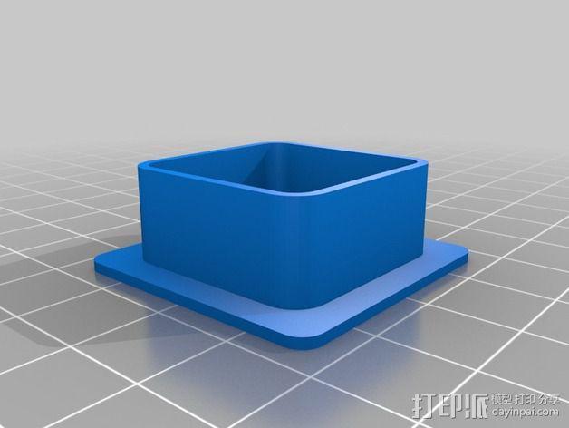 打印机金属框架盖帽 3D模型  图1