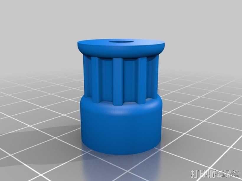 滑轮替换件 3D模型  图1