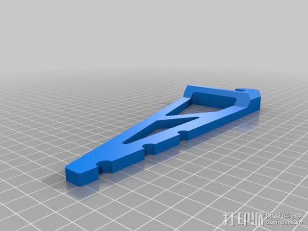 线轴支撑架 3D模型  图7