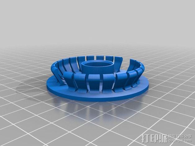 线轴支撑架 3D模型  图9