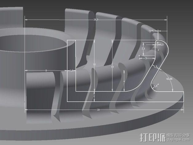 线轴支撑架 3D模型  图12