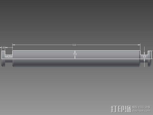 线轴支撑架 3D模型  图13