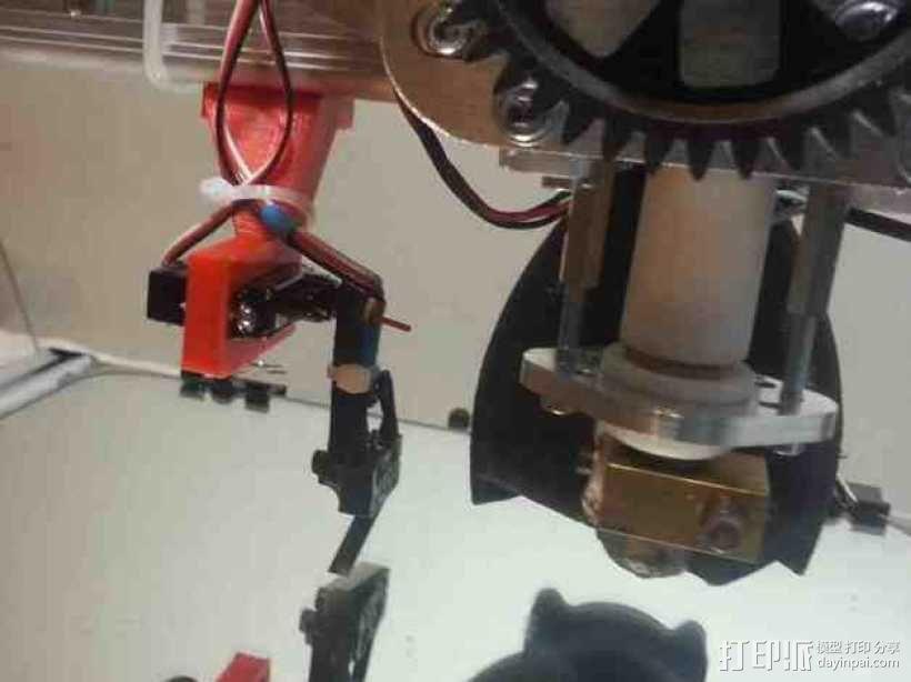 K8200 / 3Drag打印机Z轴探针支架 3D模型  图1