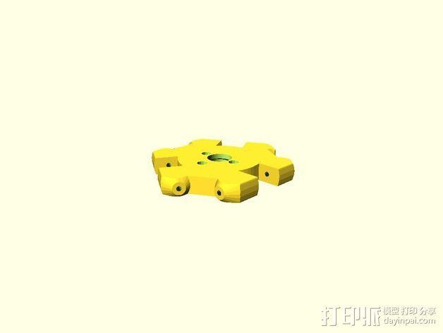 打印机自动调平操纵装置 3D模型  图3