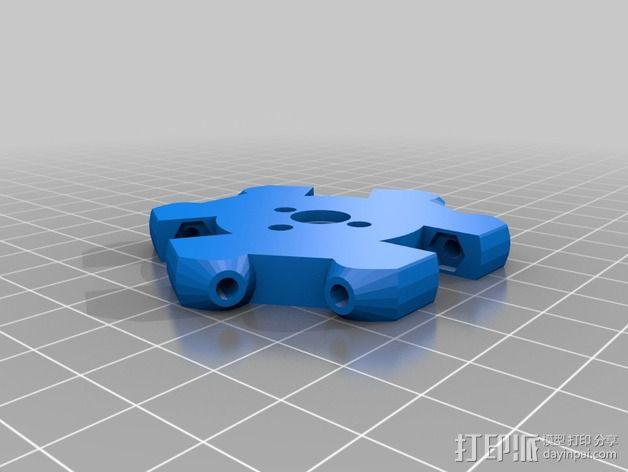 打印机自动调平操纵装置 3D模型  图2