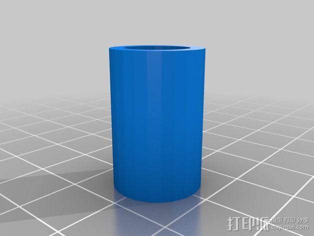 LM8UU轴承适配器 3D模型  图2