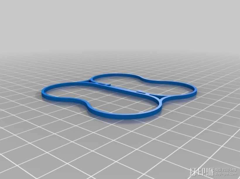 Hubsan / Proto x Q4四轴飞行器电池夹 3D模型  图2
