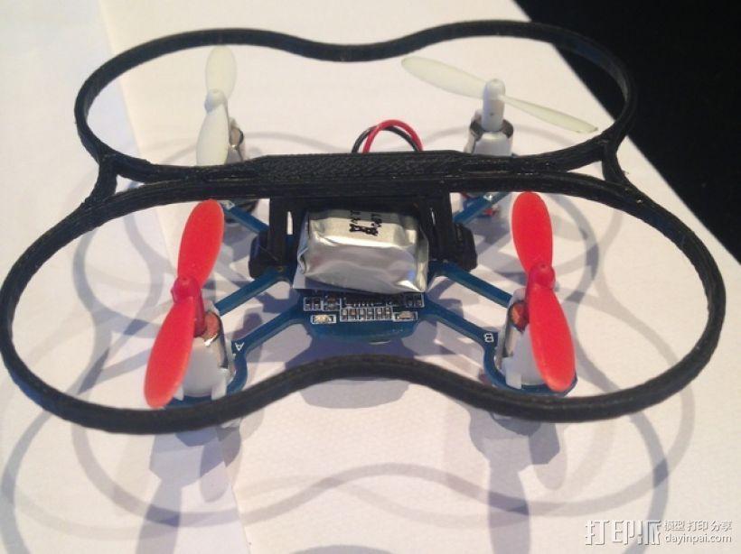 Hubsan / Proto x Q4四轴飞行器电池夹 3D模型  图1