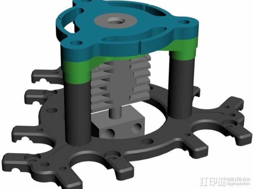 喷头支架 3D模型  图9