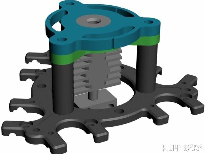喷头支架 3D模型  图8