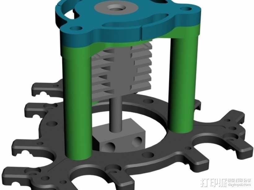 喷头支架 3D模型  图10