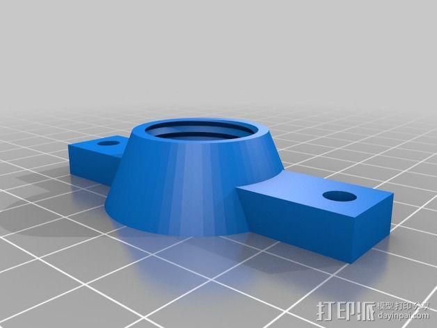 达美电摩适配器 3D模型  图2