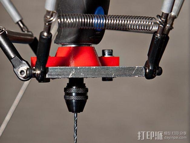 达美电摩适配器 3D模型  图1