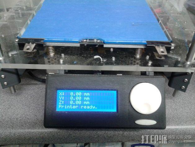 控制器液晶显示屏支架 3D模型  图2