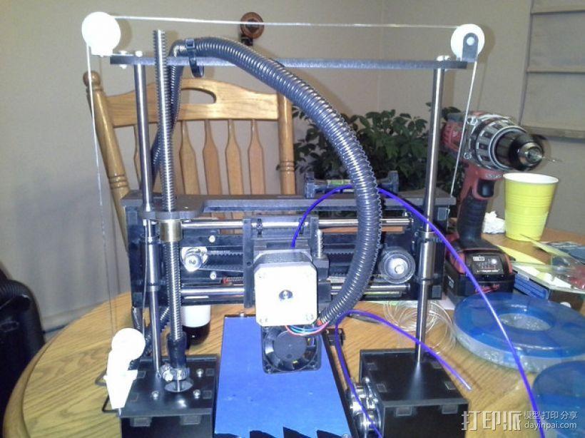 QU-BD One/Two-Up 打印机滑轮 3D模型  图1