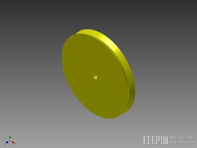 QU-BD One/Two-Up 打印机滑轮 3D模型  图7