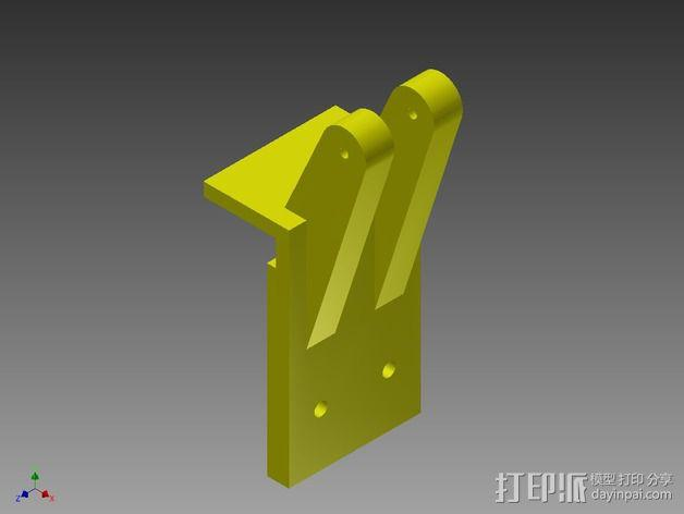 QU-BD One/Two-Up 打印机滑轮 3D模型  图6