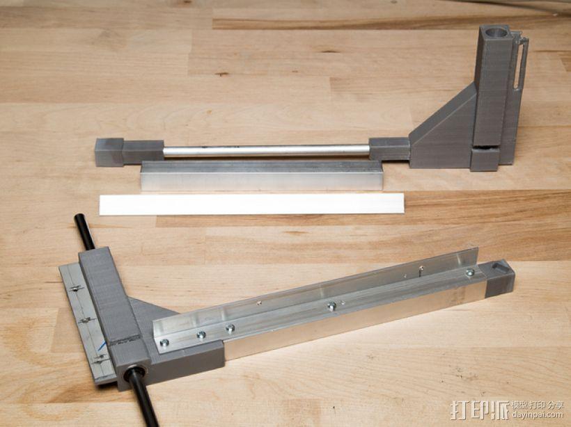 Duplicator 打印机热床支撑臂 3D模型  图1