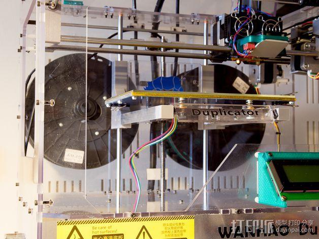 Duplicator 打印机热床支撑臂 3D模型  图3