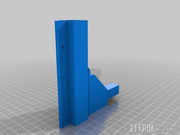 Duplicator 打印机热床支撑臂 3D模型  图5
