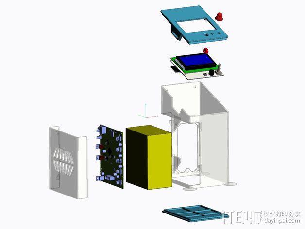 控制器保护盒 3D模型  图2