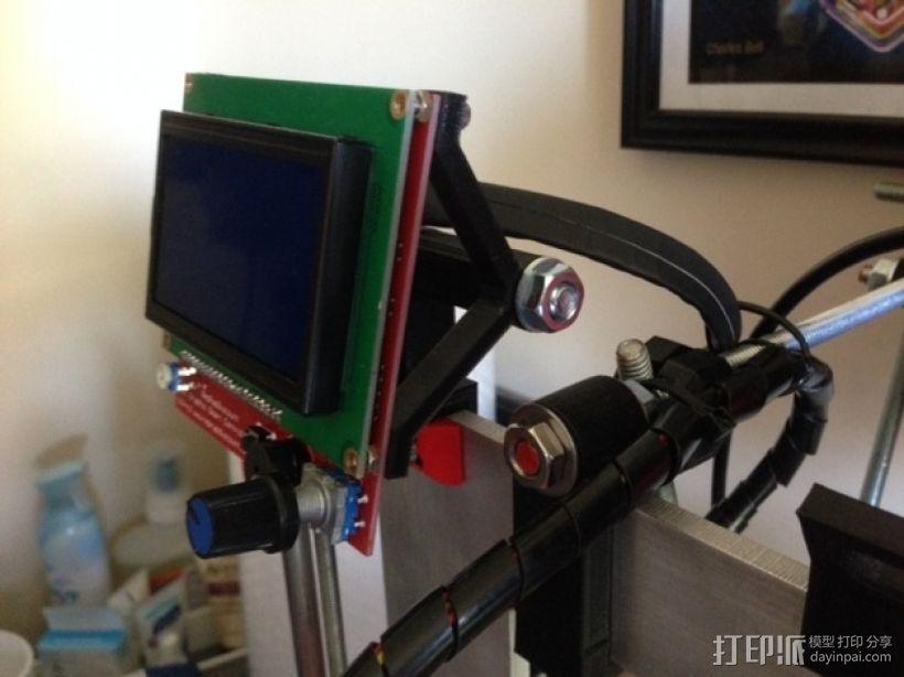 RepRep控制器液晶显示屏支架 3D模型  图1