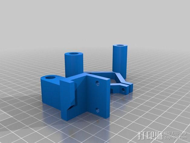 RepRep控制器液晶显示屏支架 3D模型  图2