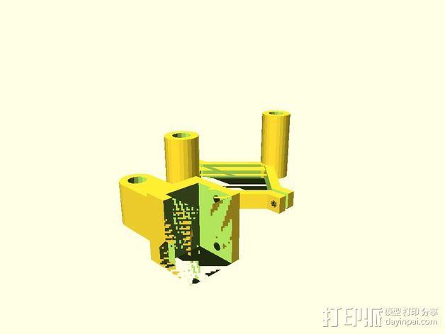 RepRep控制器液晶显示屏支架 3D模型  图3