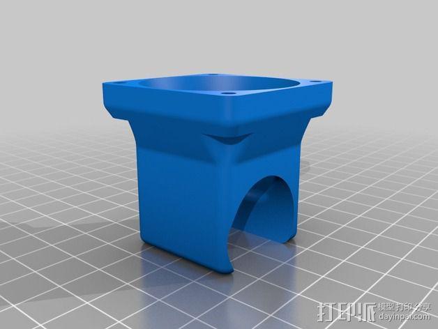 喷头支架 风扇支架 3D模型  图1