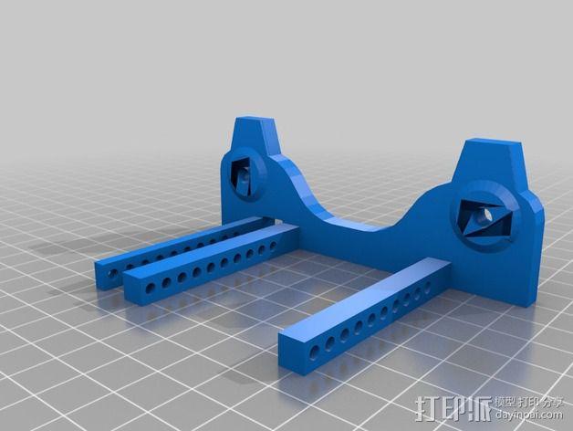 通用式线轴支架 3D模型  图3