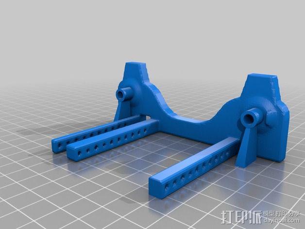 通用式线轴支架 3D模型  图2