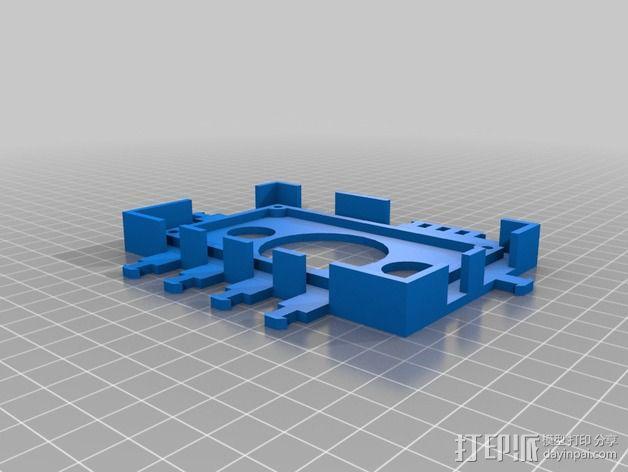 打印机电路板外罩 3D模型  图4