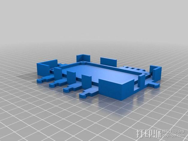 打印机电路板外罩 3D模型  图3