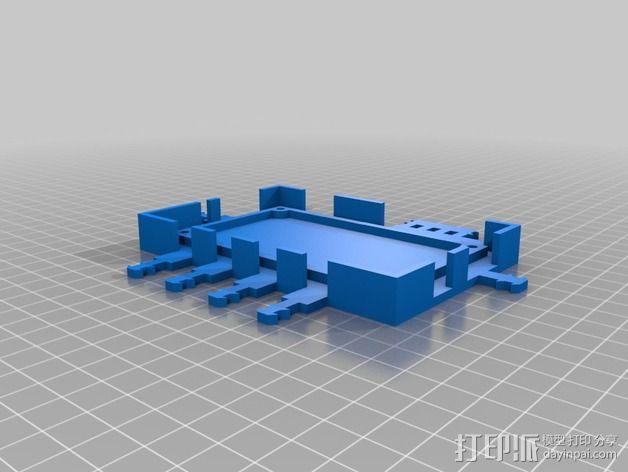 打印机电路板外罩 3D模型  图2
