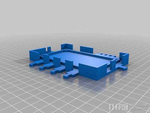 打印机电路板外罩 3D模型  图5