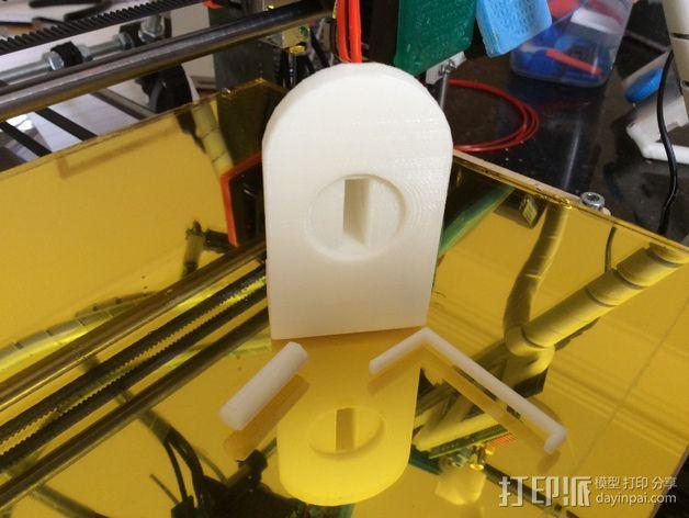 调平器支架 3D模型  图2