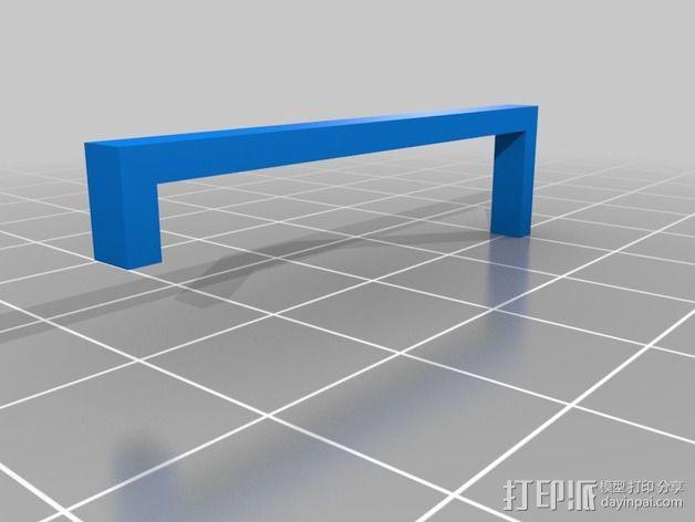 调平器支架 3D模型  图6