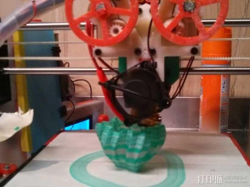 打印测试 路障 花盆 3D模型  图1