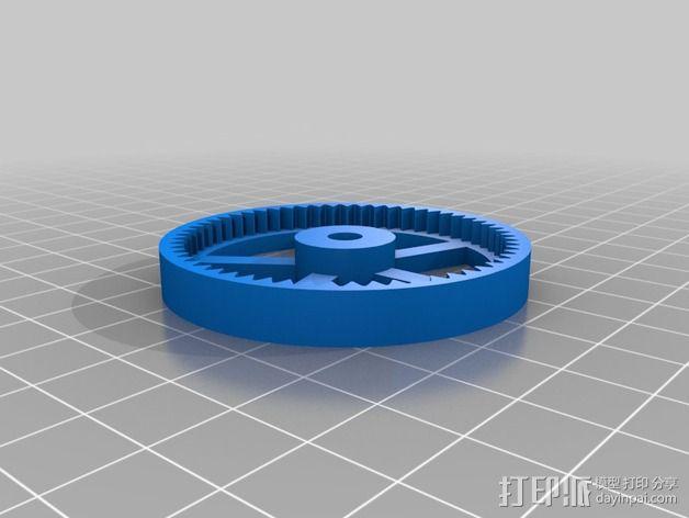 打印测试 路障 花盆 3D模型  图2