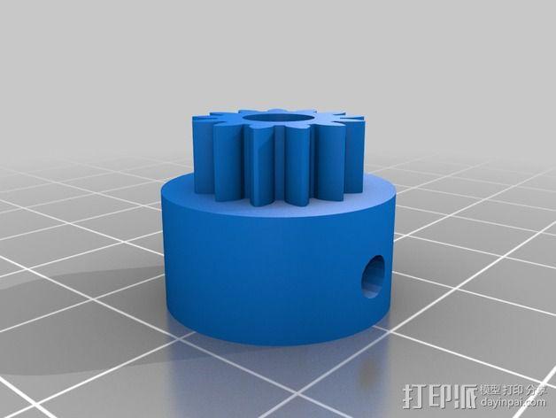 打印测试 路障 花盆 3D模型  图6