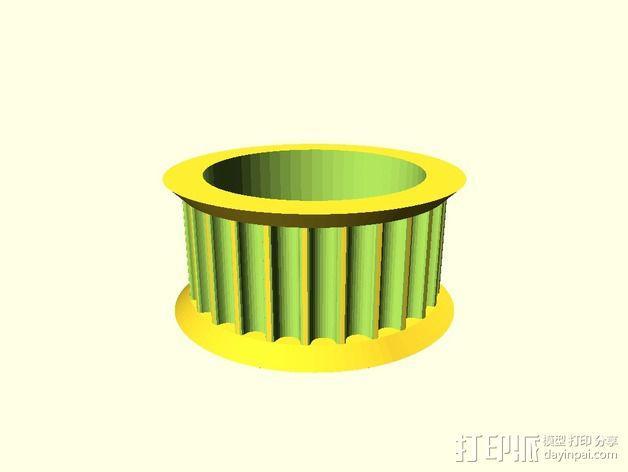GT2皮带惰轮 3D模型  图1